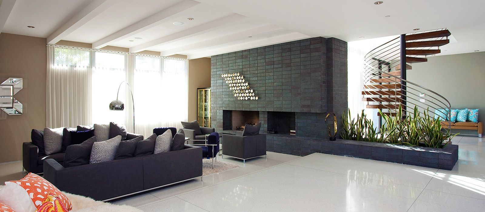 Interior living room modern classic style with furniture