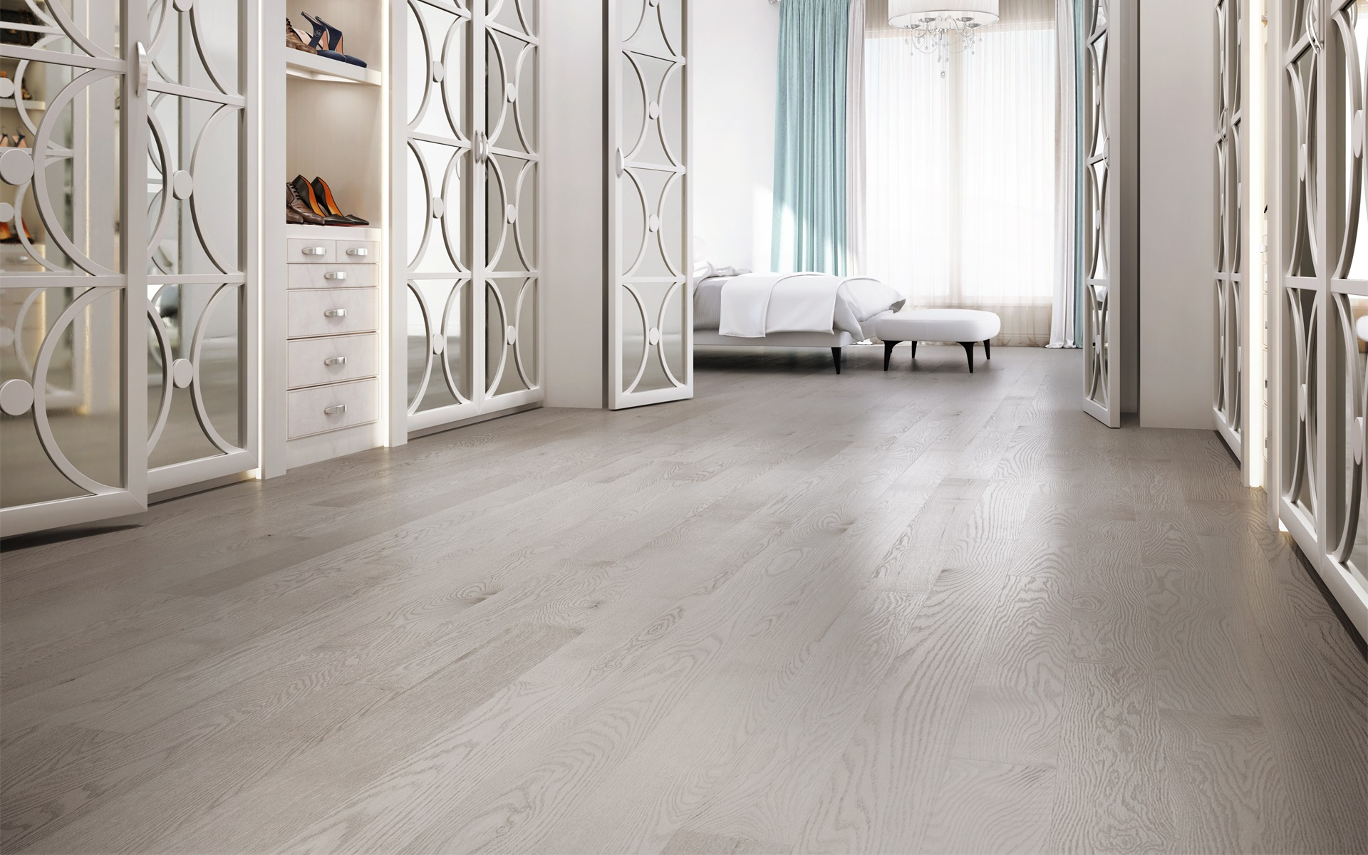 White wooden background for flooring