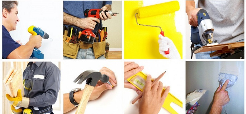 Collage image of home repair services